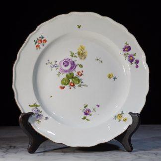 Meissen porcelain plate Deutsch blumen