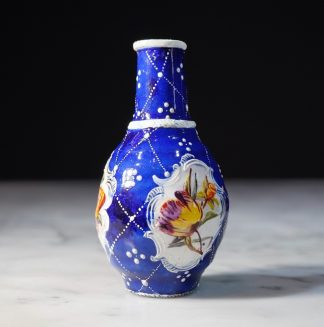 English enamel vase