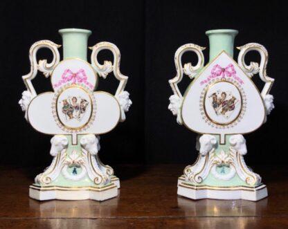 Meissen candlesticks Litchfield London 1876