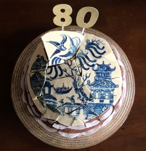 Willow Pattern Plate Cake