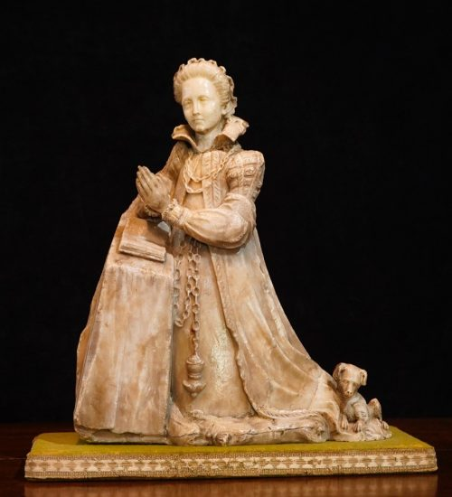 Mary Queen of Scots alabaster statue