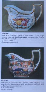 Coalport examples in 'Cabinet of Creamers'