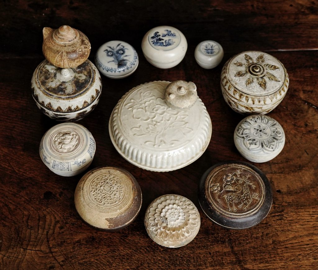 Collection of South East Asian Ceramic Boxes