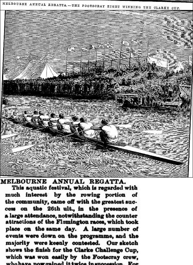 Melbourne Regatta 1881