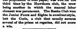 1881 Melbourn Regatta - Banks Team wins