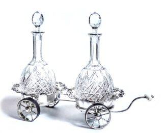 Old Sheffield Plate Wine Cart c.1820